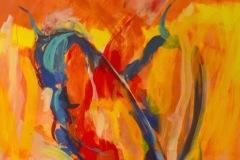 Schmetterlinge und Feuer | 2020 | Eitempera auf Leinwand | 230 x 150 cm | 9.000 Euro
