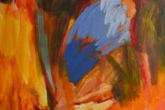 Schmetterling und Feuer | 2020 | Eitempera auf Leinwand | 230 x 150 cm | 9.000 Euro