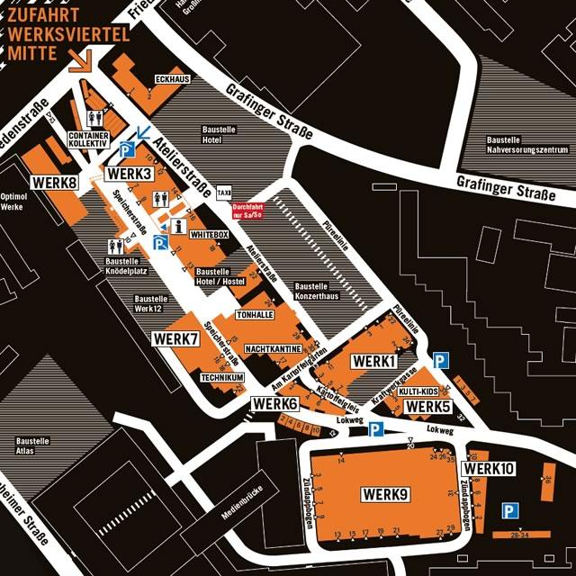 Werksviertel Mitte Geländeplan Mai 2017